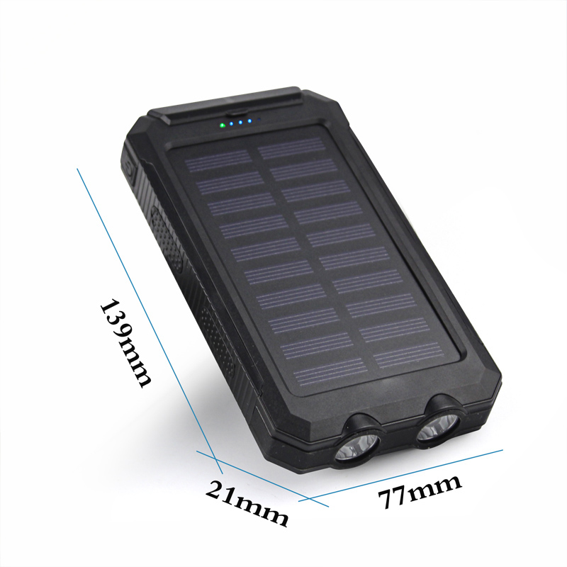 50000mAh-Solar-Power-Bank-2USB-2LED-Waterproof-Backup-Battery-Charger-For-Phone