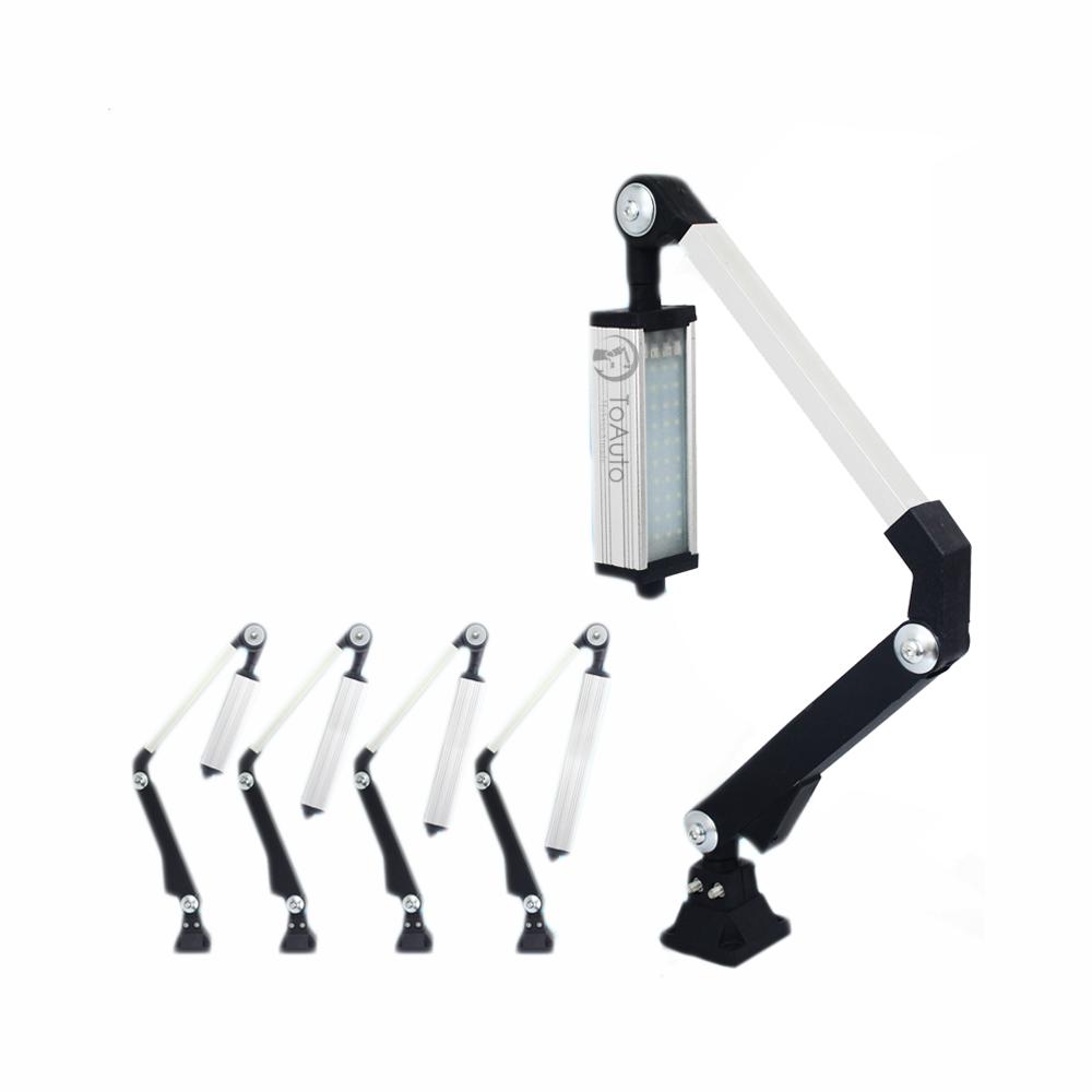 1pc 400mm 40W CNC Machine LED Light Work Lighting Swing Arm 12-24V Milling Lathe