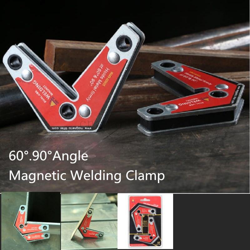 2Pcs Dual-Use Strong Welding 60°/&90° Corner Magnet Magnetic Holder Industrial uk