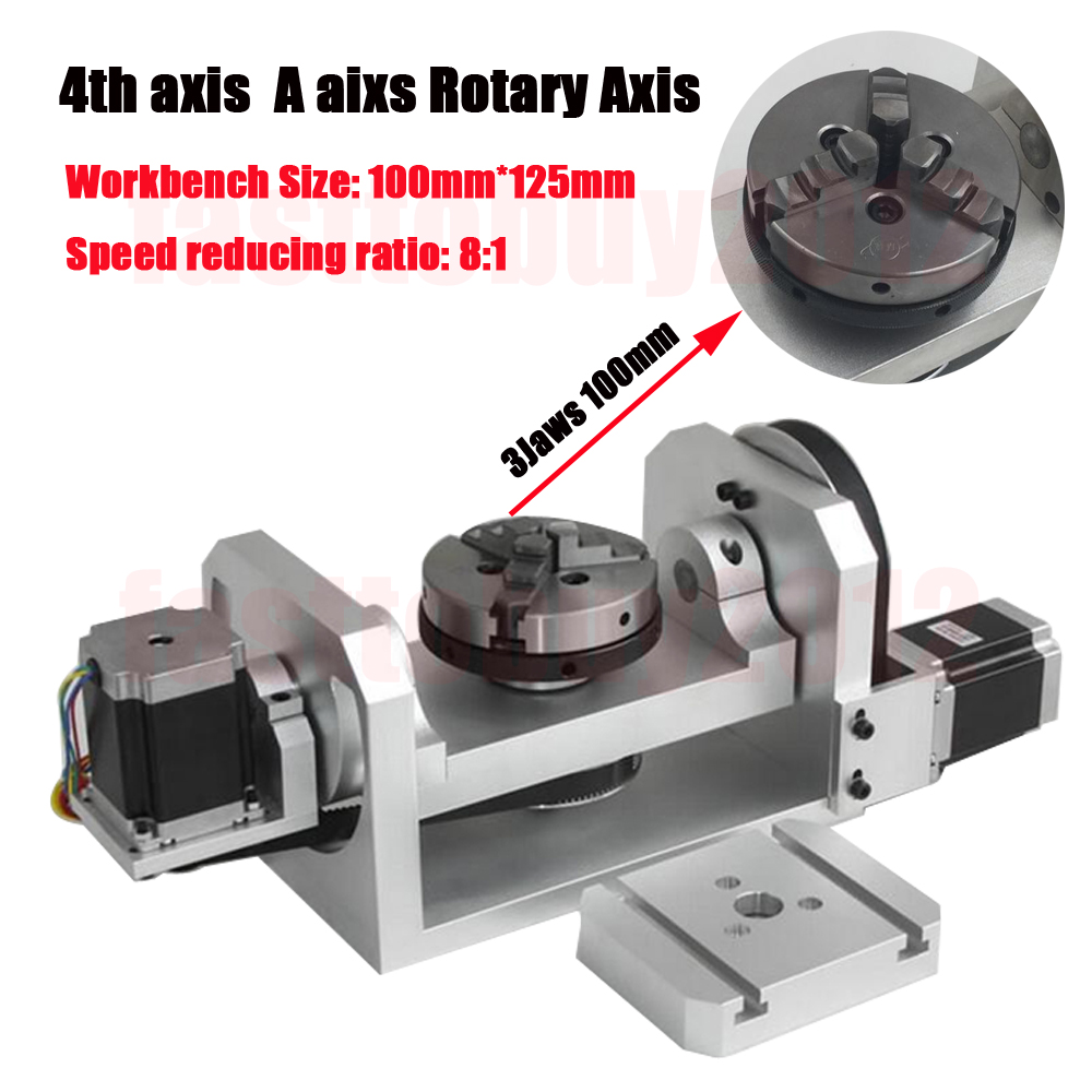 Details about 4th A Axis Rotary Axis Table CNC Dividing Head 3 Jaw 100mm  Chuck for CNC Milling