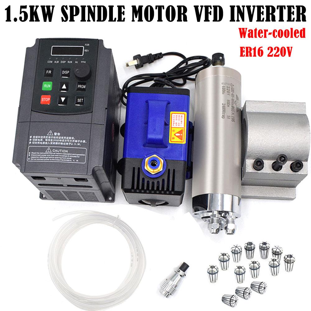 1.5KW//2.2kw ER11//ER16//ER20 Water Cooling Spindle Motor for CNC Engraving Machine