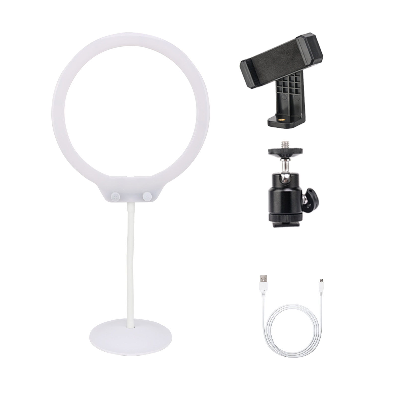 Makeup Ring And Lights: ZOMEI LED Ring Light Tabletop Dimmable Makeup Lighting