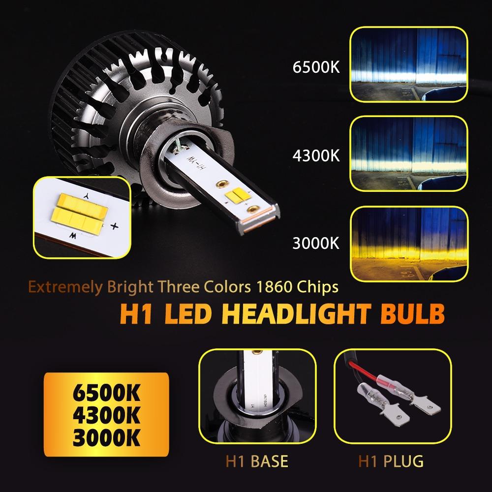 H4 H7 H11 H13 9007 9005 9006 3Color Car LED Headlight Bulb ZES 6500K//4300K//3000K