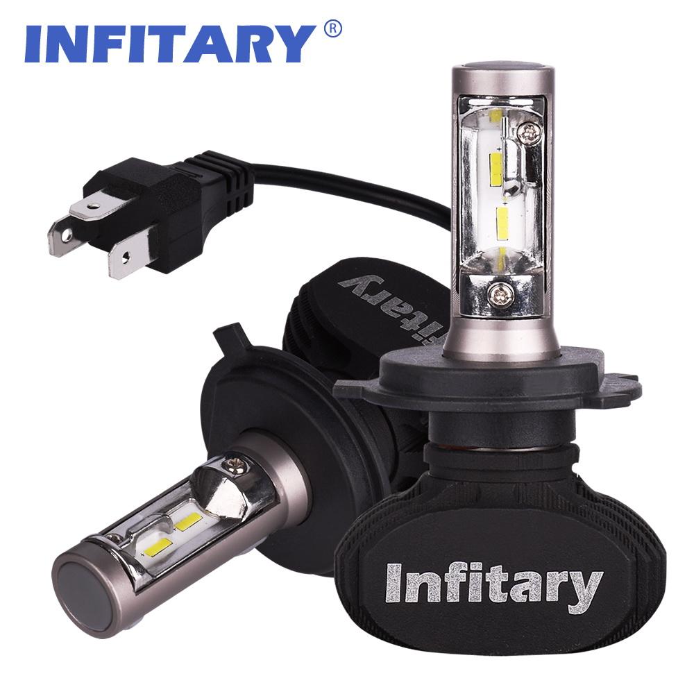H4 9003 HB2 H7 COB LED Headlight Bulb Lamp 50W Hi//Lo Beam 8000LM High Low White