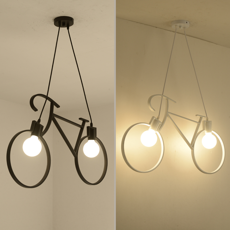 Nordic Ikea Bicycle Iron Cafe Loft Ceiling Lamp Chandelier Lamp Droplight Cafe Ebay