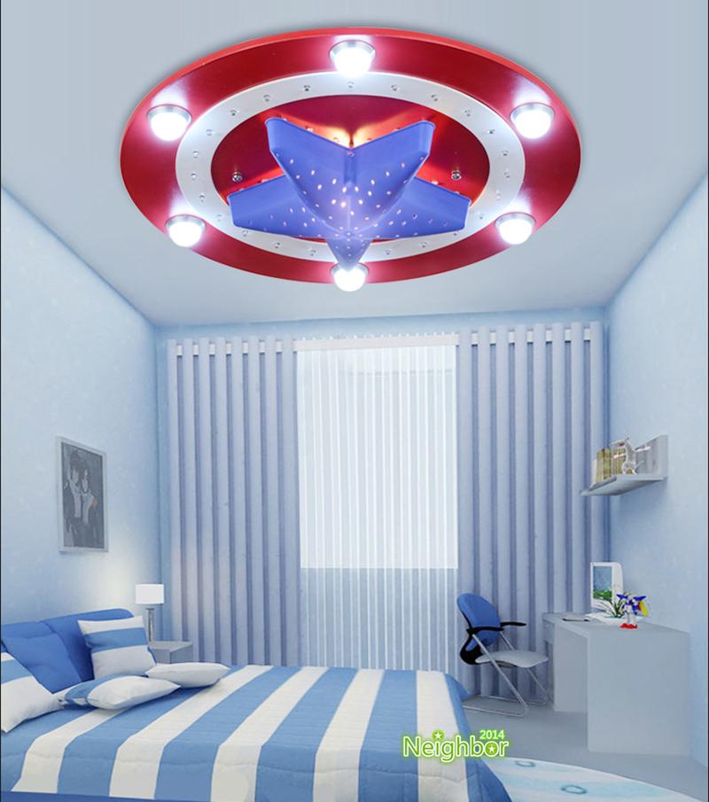 America Captain Shield Ceiling Lights Pendant Lamp Kids Room Lighting