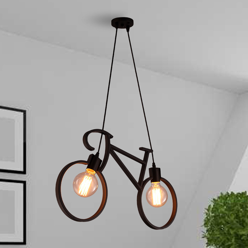 Lamp Details Droplight Nordic Chandelier Ikea about Bicycle Ceiling Cafe Cafe Lamp Iron Loft hdBrxtsCQ