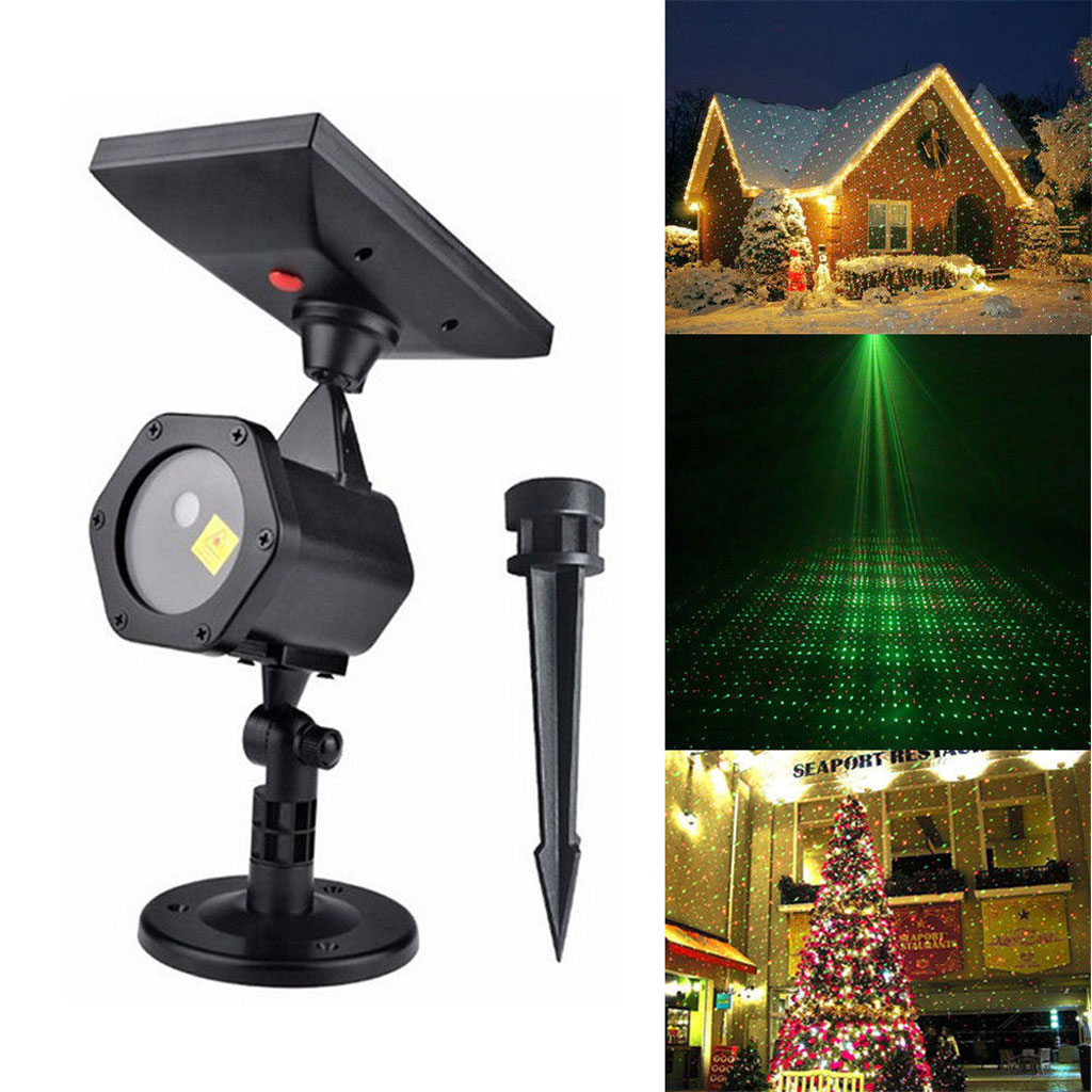 Solaire led laser projecteur lumi re eclairage ext rieur no l f te d co ip65 r g ebay for Lumiere laser exterieur noel