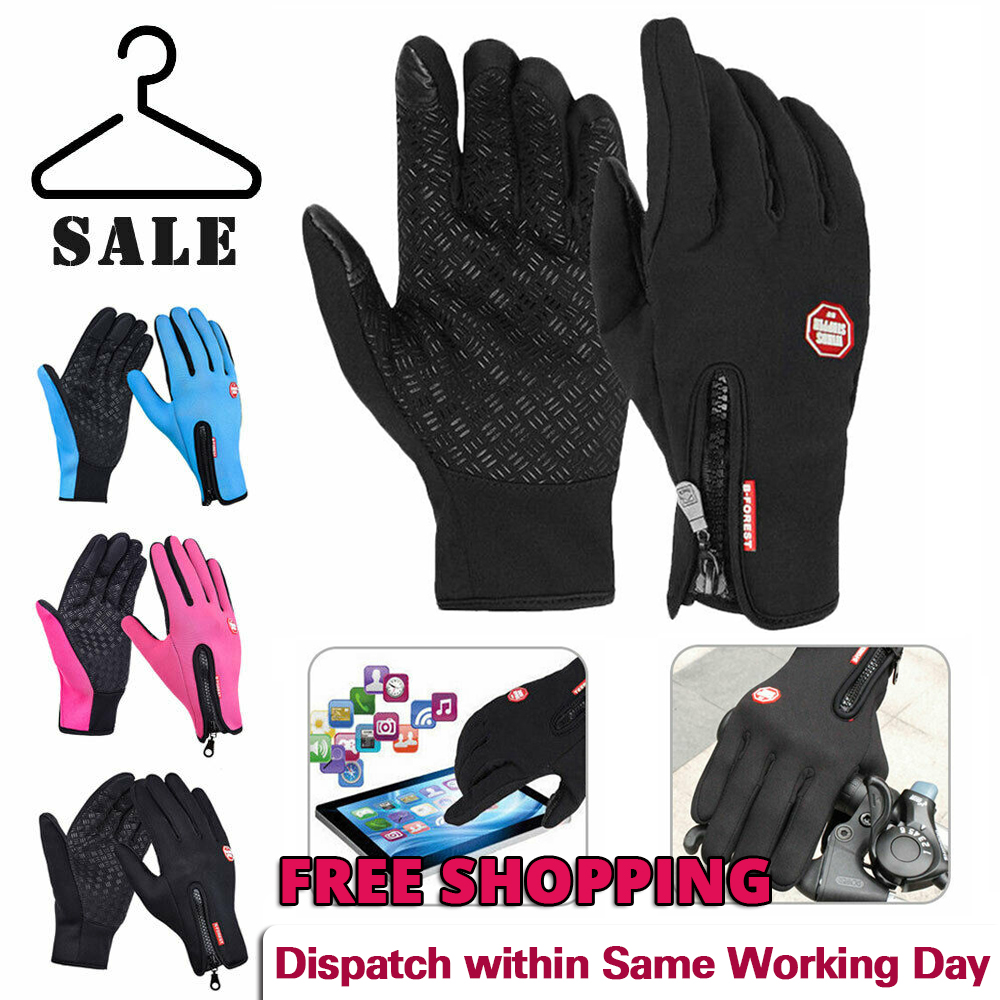 Winter Warm Windproof Waterproof Anti-slip Thermal Touch Screen Bike Gloves UK !