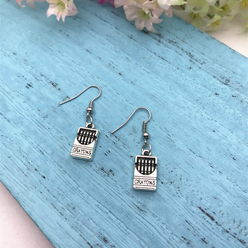 Details About Teacher Earrings Children S Art Artistic Tween Gift