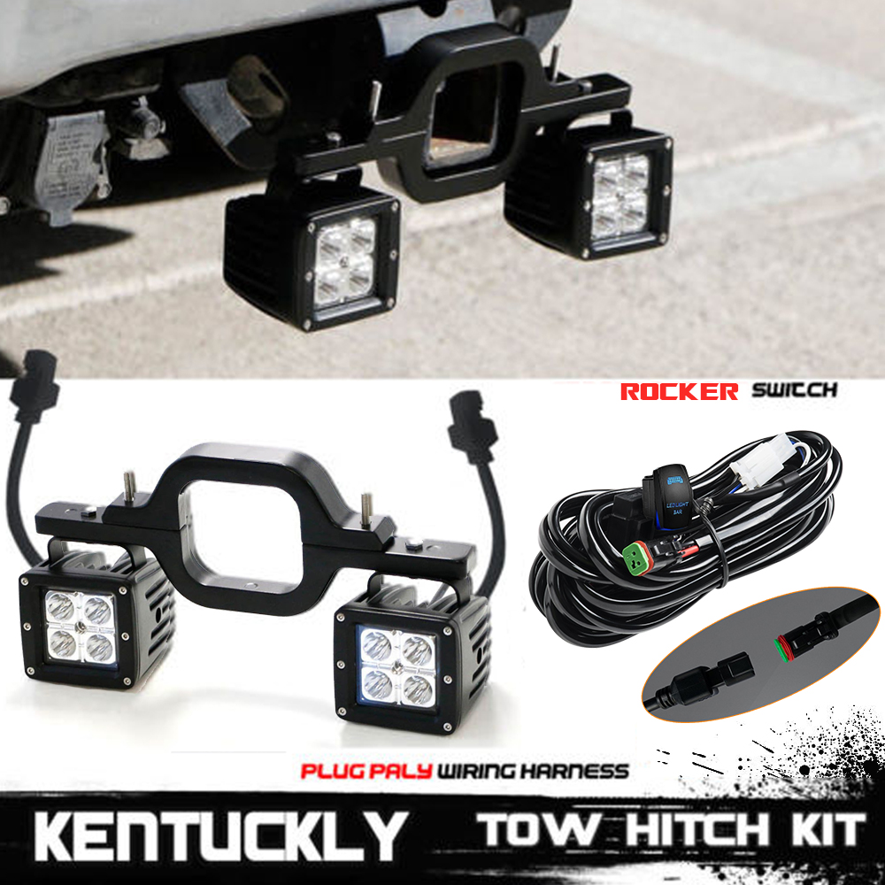 4fit Ford F150 250 350 Truck Suv Backup Reverse 3 Tow Hitch 16w Led F 150 Wiring Harness Clips Light Bar