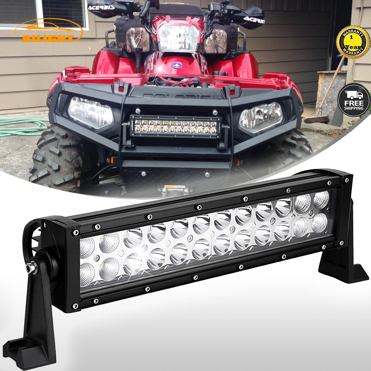So bright 12inch led light bar combo the best for your atv utv 12inch led light bar combo the best for your atv utv and dirt bike aloadofball Image collections