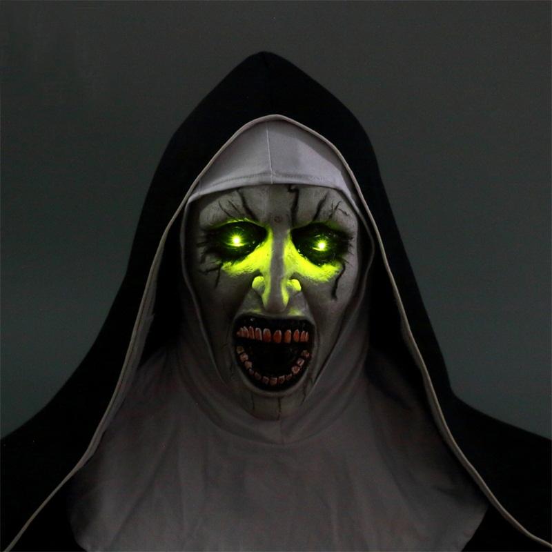 2018 Horror Movie The Nun Valak Cosplay Face Mask Headscarf Veil Scary Halloween