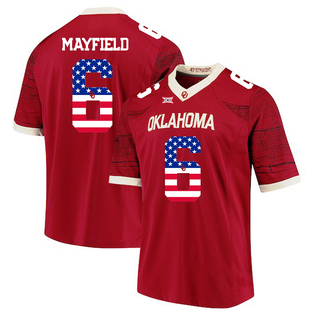 Baker Mayfield  6 Oklahoma Sooners Stitched Jersey Football Cream Legend  Limited 85ecb9182