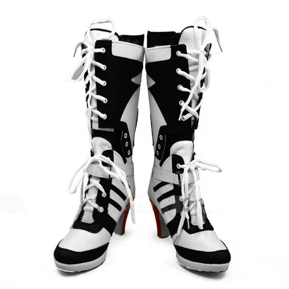 37da82df257e Halloween Cosplay Harley Quinn Boots High Heel Shoes Costume Suicide Squad  Boots