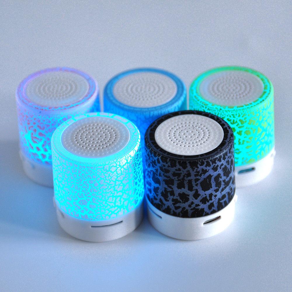 Xmas Led Mini Portable Wireless Bluetooth Speaker Usb Music Sound Musik Box Subwoofer A9