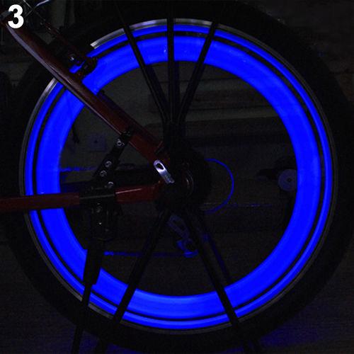 New Safe Bright Bike Bicycle Cycling Car Wheel Tire Tyre Led Spoke Light Lamp LN