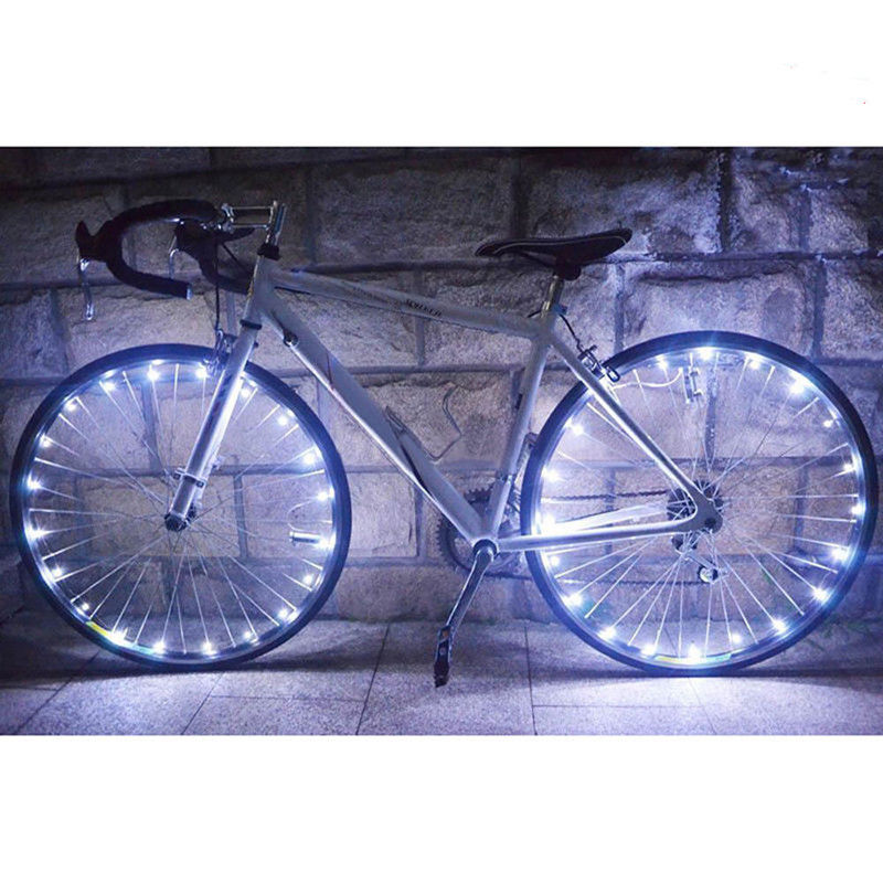 20 LED Bike Bicycle Cycling Rim Lights LED Wheel Spoke Light String Strip Lamp E