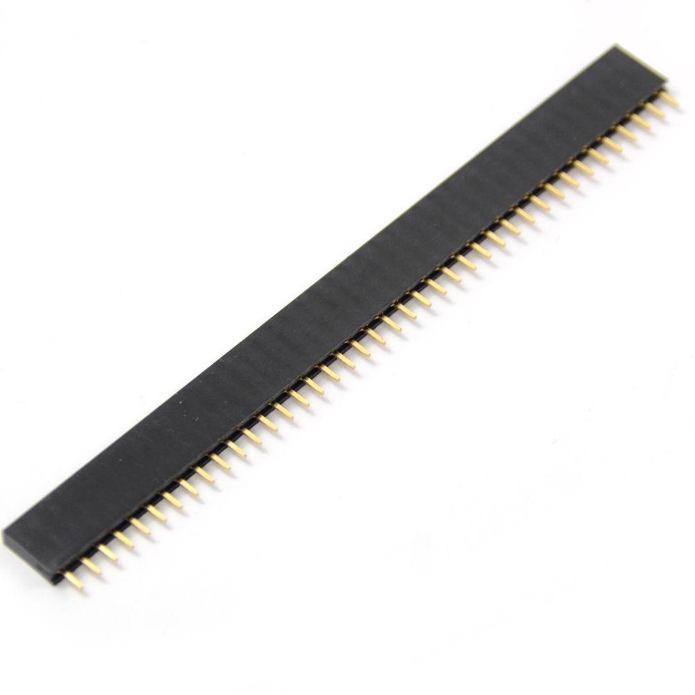 100pcs 1x40 Pin 2.54mm Single Row Female Pin Header Connector QC