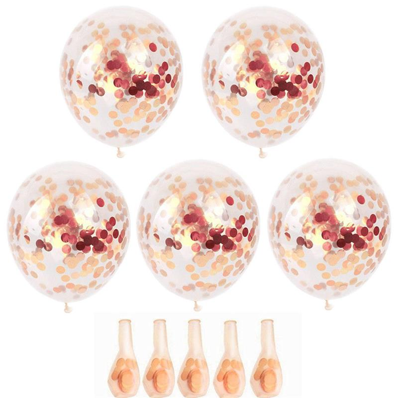 "12/"" Confetti Latex Balloons Rose Gold Helium Birthday Wedding Hen Party KY"