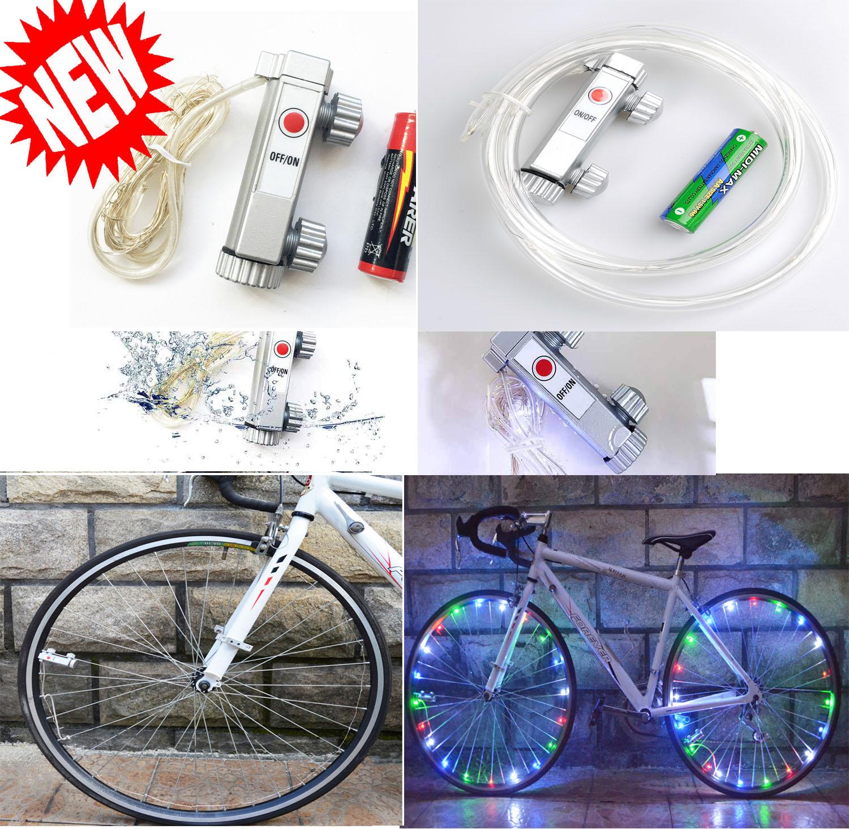 20LED Bike Bicycle Cycling Rim Lights LED Wheel Spoke Light String ...