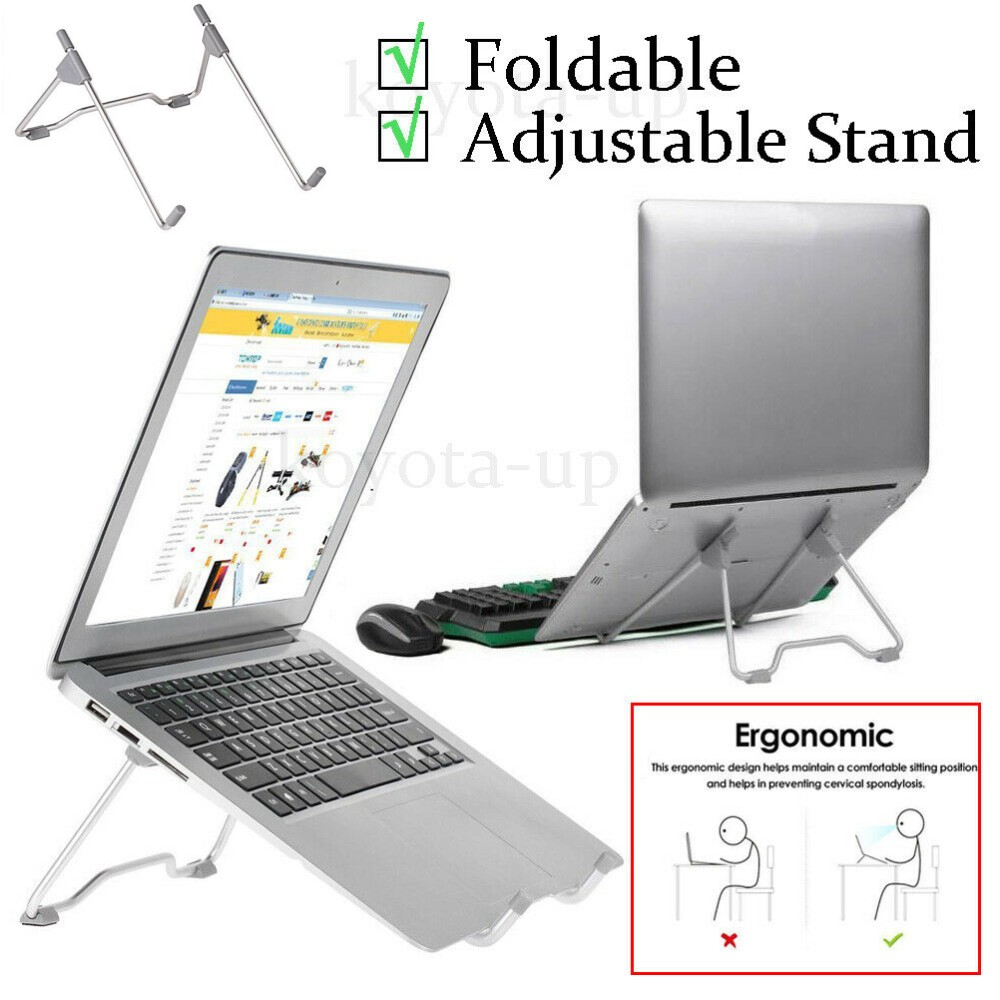 Invisible Adjustable Tray Lazy Folding Laptop Stand for MacBook Pro//Air Black US