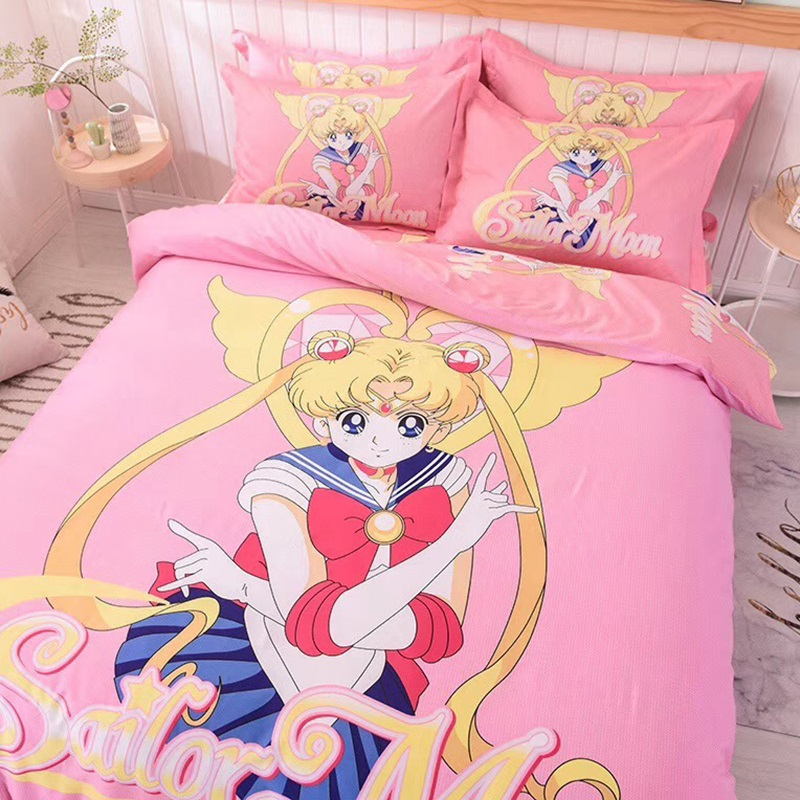 Sailor Moon Bed Duvet Cover Bedding, Sailor Moon Bedding Queen