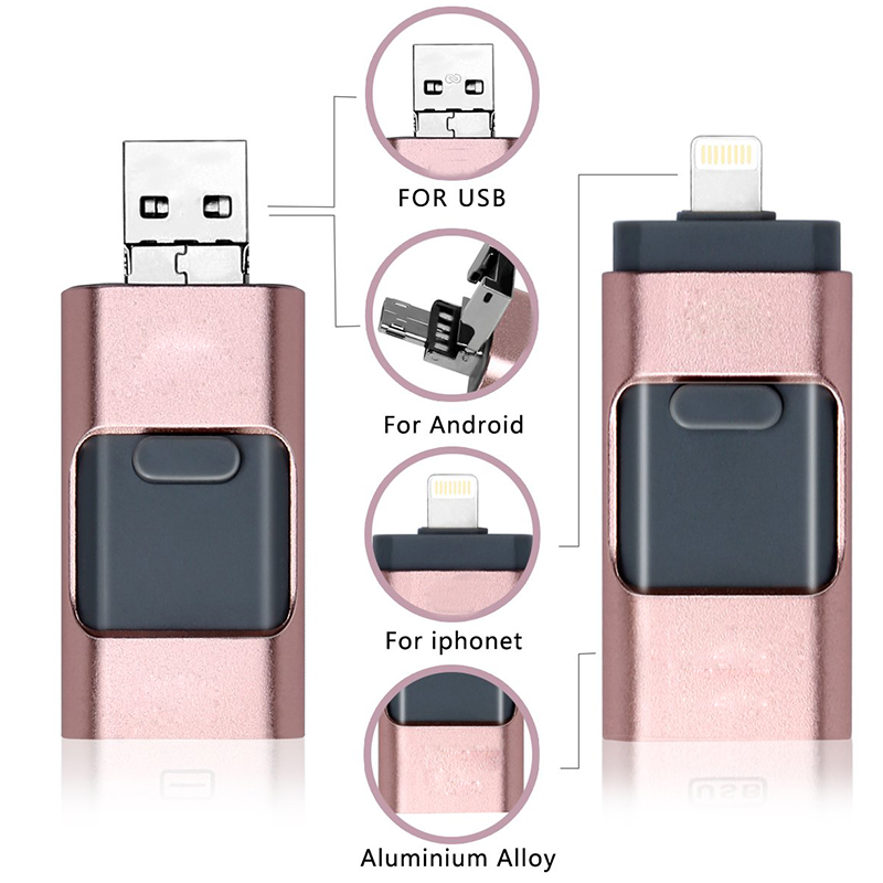 Details about 512GB Flash Drives USB Memory Stick U Disk 3 in 1 For OTG IOS  iPhone PC Android