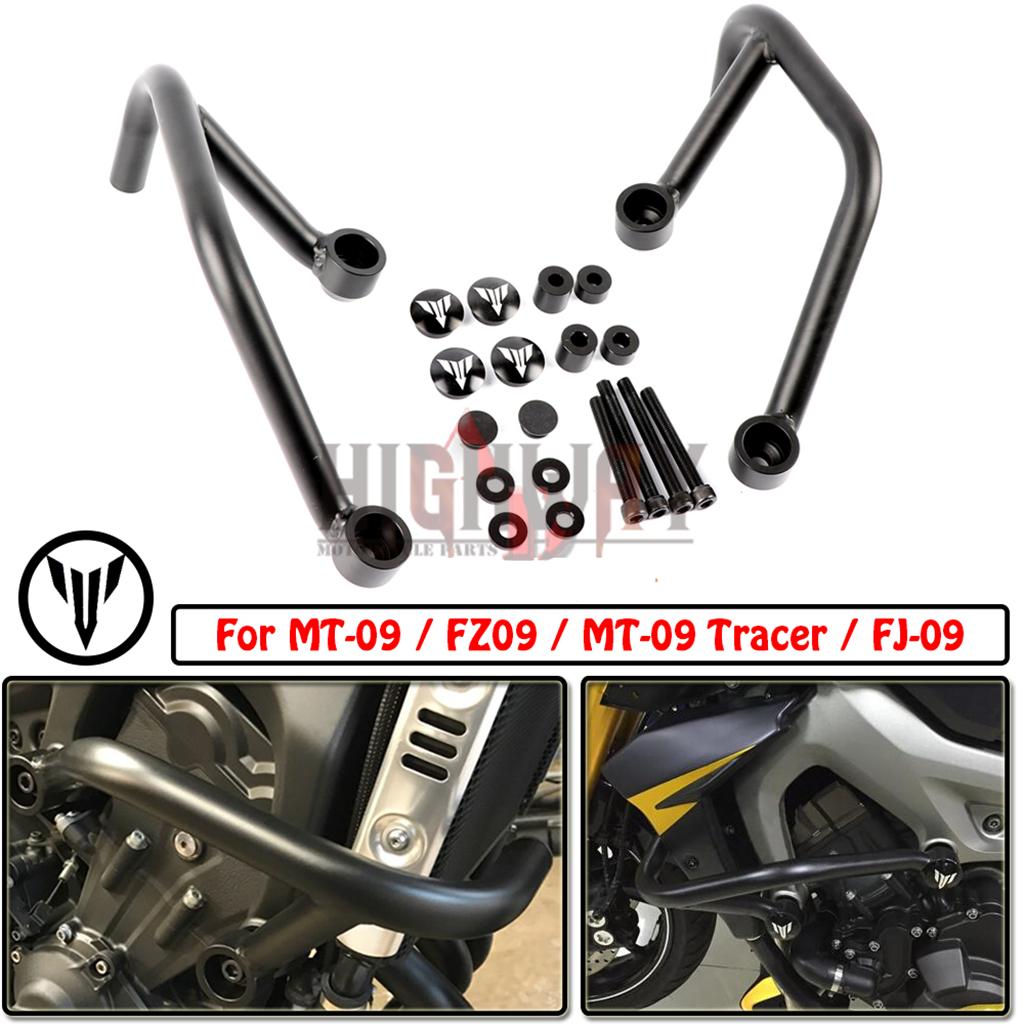Details About Engine Guard Crash Bar Frame Bumper Protector For Yamaha Mt 09 Fz 09 Fj 09 14 16