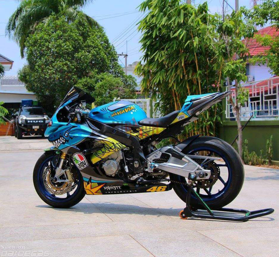 Fit 15 16 Bmw S1000rr Replica Agv Rossi Misano Blue Shark