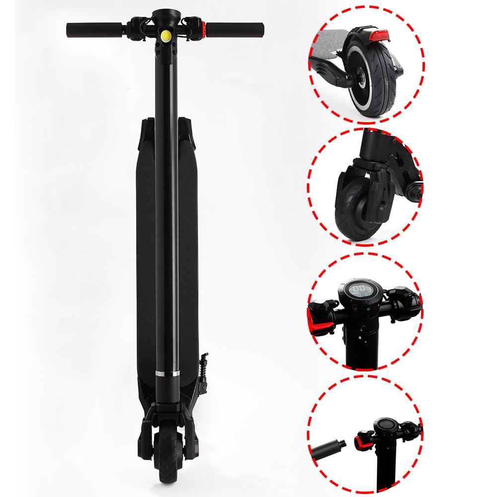 foldable electric kick scooter light carbon fiber. Black Bedroom Furniture Sets. Home Design Ideas