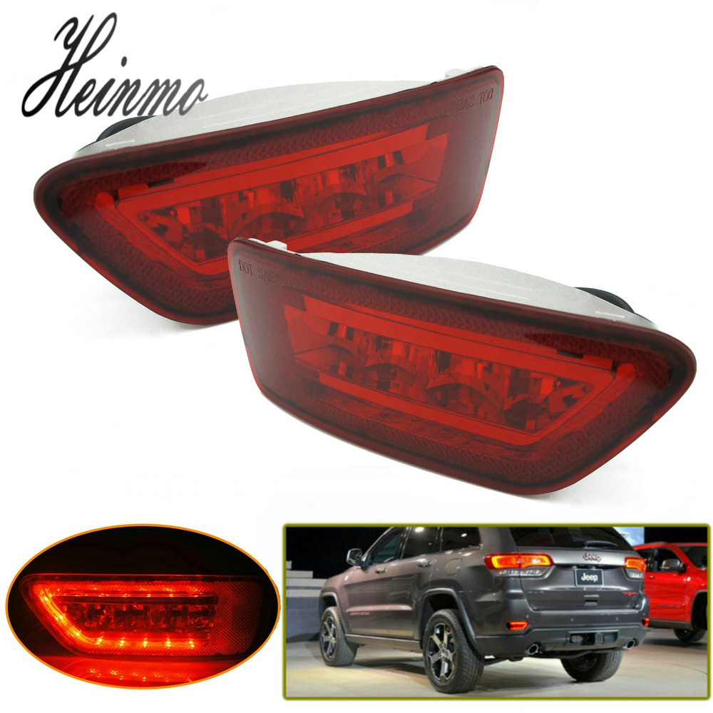 Red LED Rear Fog Light Kit For 2011-2015 Jeep Grand Cherokee WK2 Compass Patriot