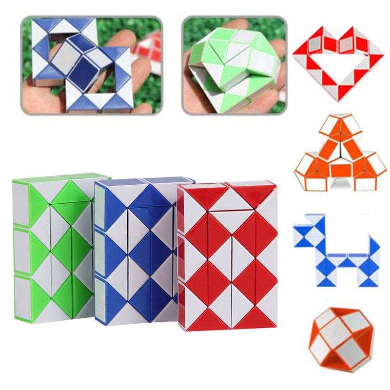Details about Magic Snake Shape Toy Game 3D Rubik Cube Puzzle Twist Puzzle  Educational Toy 450d75d2003f