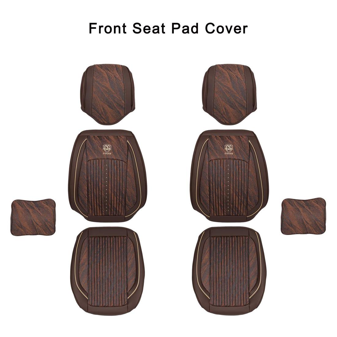 15PCS Universal PU Leather Full Set General Car Seat Cover