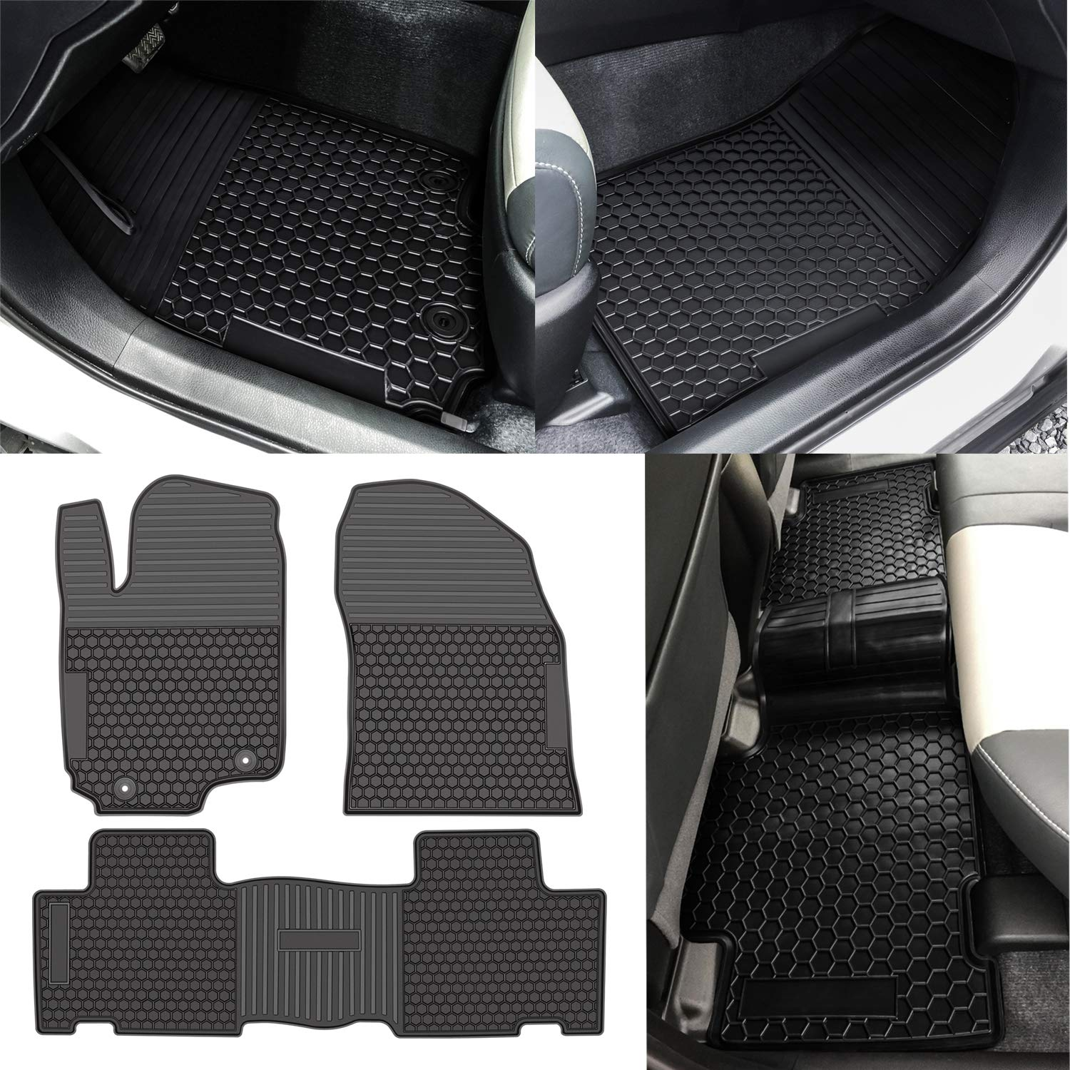 Heavy Duty Carpet Rubber Floor Mats Liners Custom Fit For