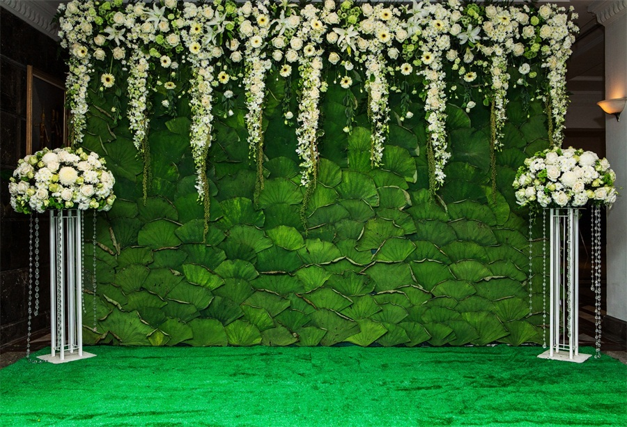 Lotus Leaf Flower Wall Stage Backdrop Wedding Photo