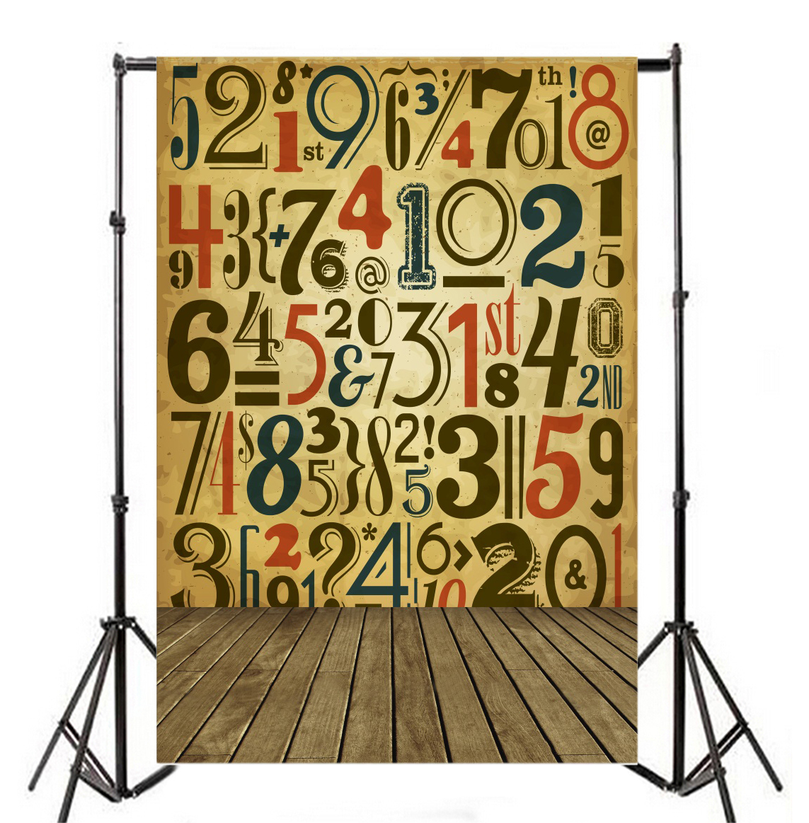 Number Backdrop Effect Wall Background Portrait Photography Vinyl ...