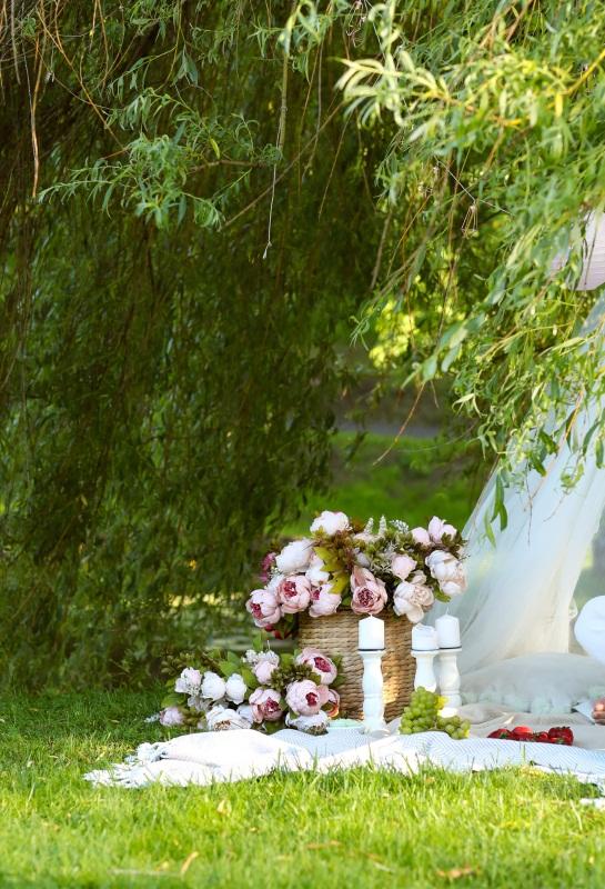 Vinyl Photo Backdrops Green Garden Outdoor Photography Background