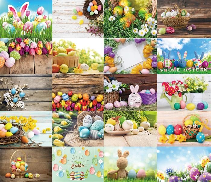 Vinyl Photography  Backdrop Photo Prop Spring Balloons