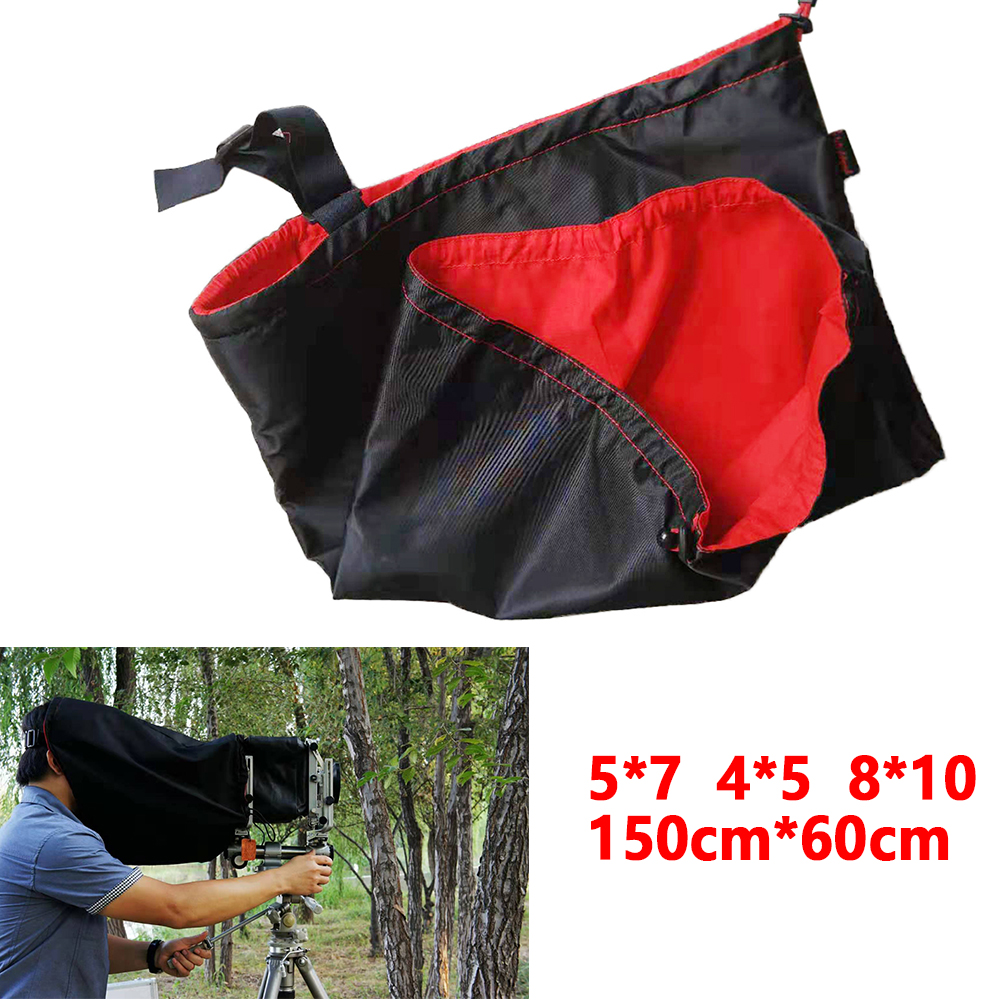 5x7 Deluxe Dark Focusing Cloth for 8x10 Black//Red - BRAND NEW Film Cameras
