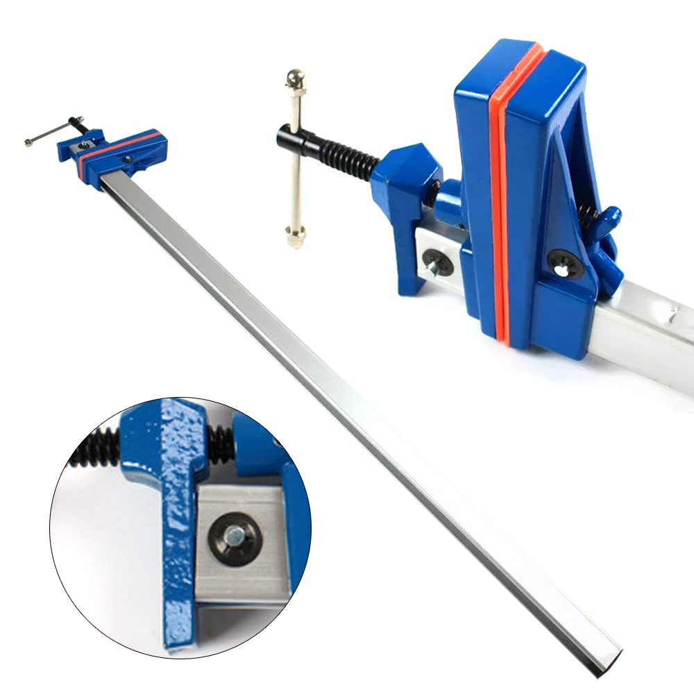 """details about f clamp 36"""" heavy duty bar woodworking quick slide wood clamp  release grip"""