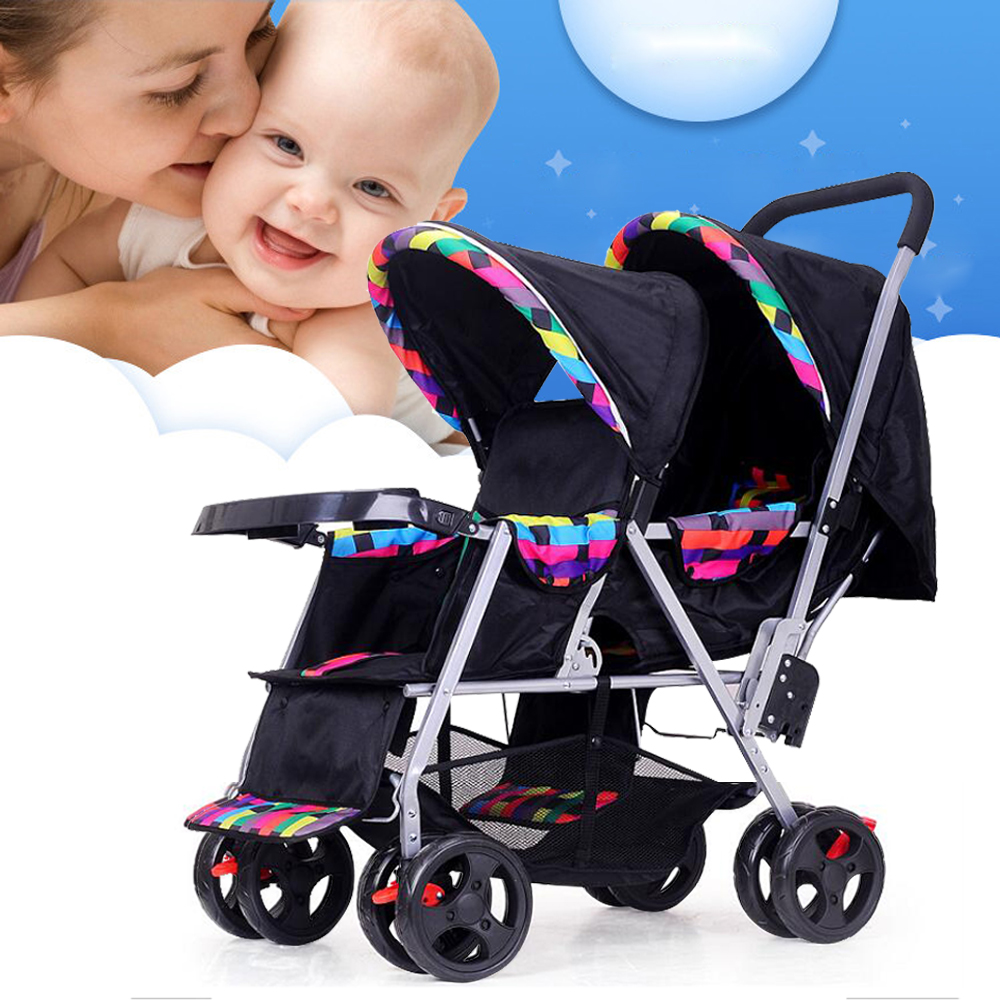 buggy kombi kinderwagen f r zwillinge geschwister zweisitzer twin duo seats dhl ebay. Black Bedroom Furniture Sets. Home Design Ideas