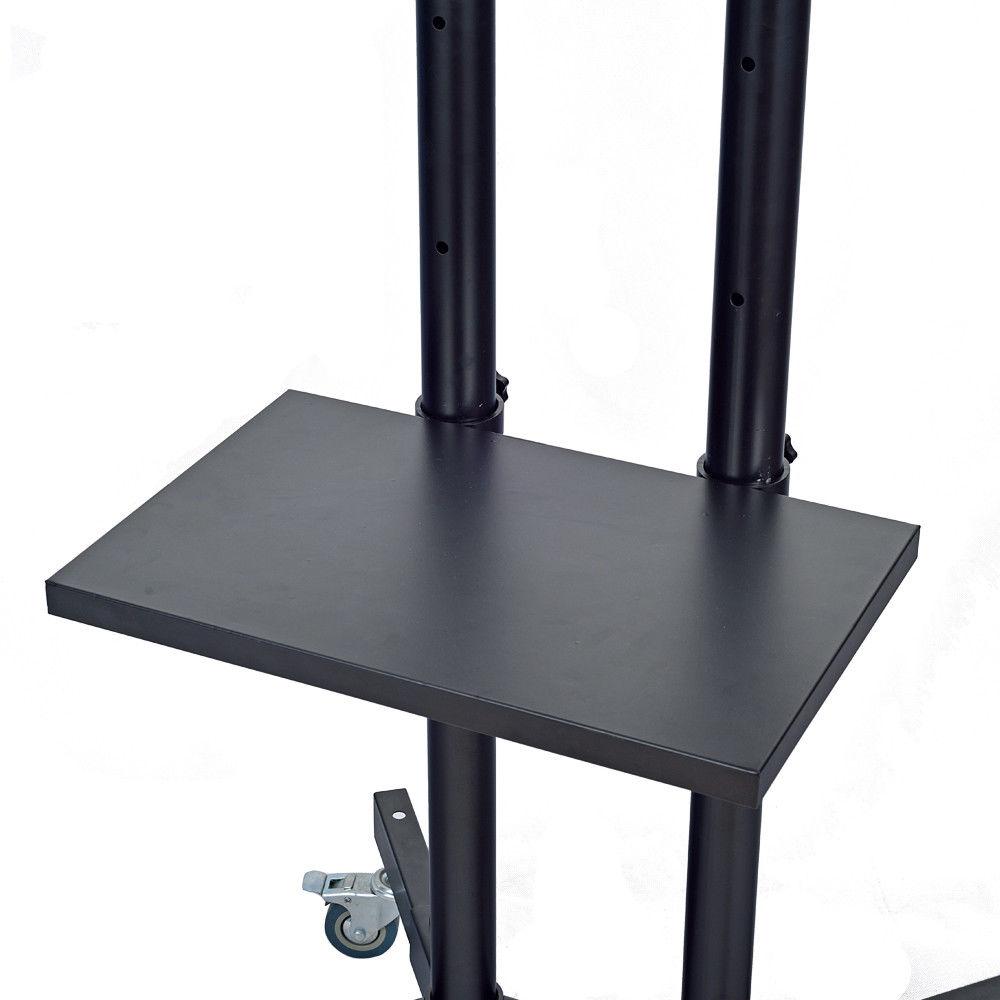 tv led trolley mobil st nder fahrbar h henverstellbar tv st nder f r 32 65 tv ebay. Black Bedroom Furniture Sets. Home Design Ideas