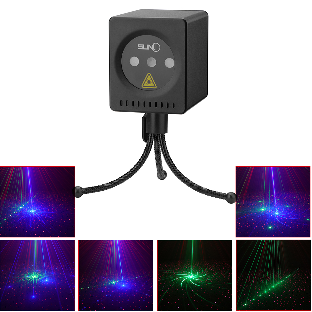 Details About Rechargeable 8 Rgb Patterns Gobo Stage Light Laser Diode All Match Lights Us