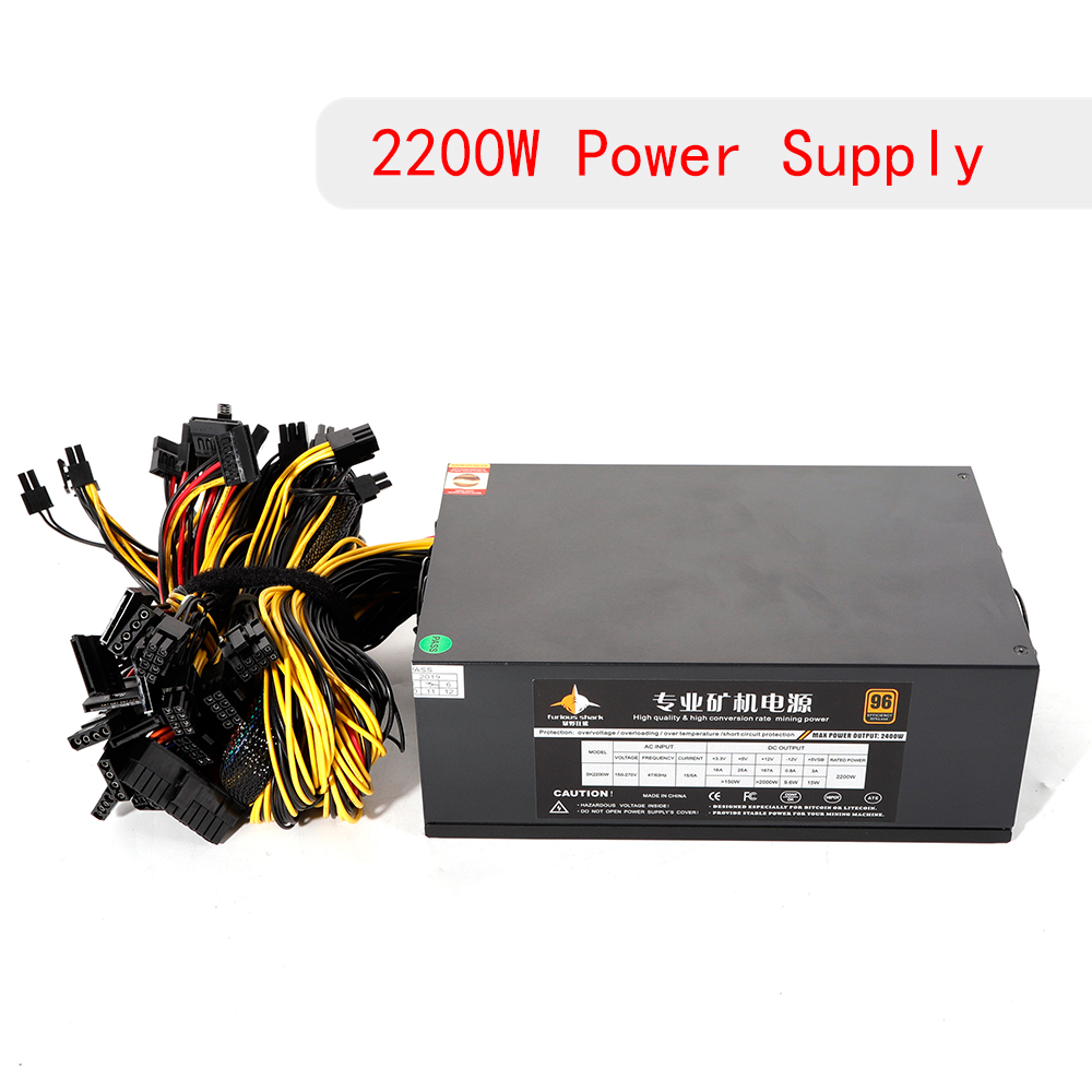Details about 2200W Mining Power Supply ATX for 8 GPU S9 S7 ETH BTC Rig  Ethereum Miner Machine