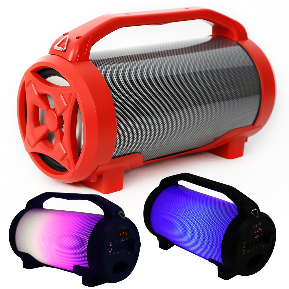 LED Portable Bluetooth Stereo Speaker Wireless Pulse LED Dancing Light For Party