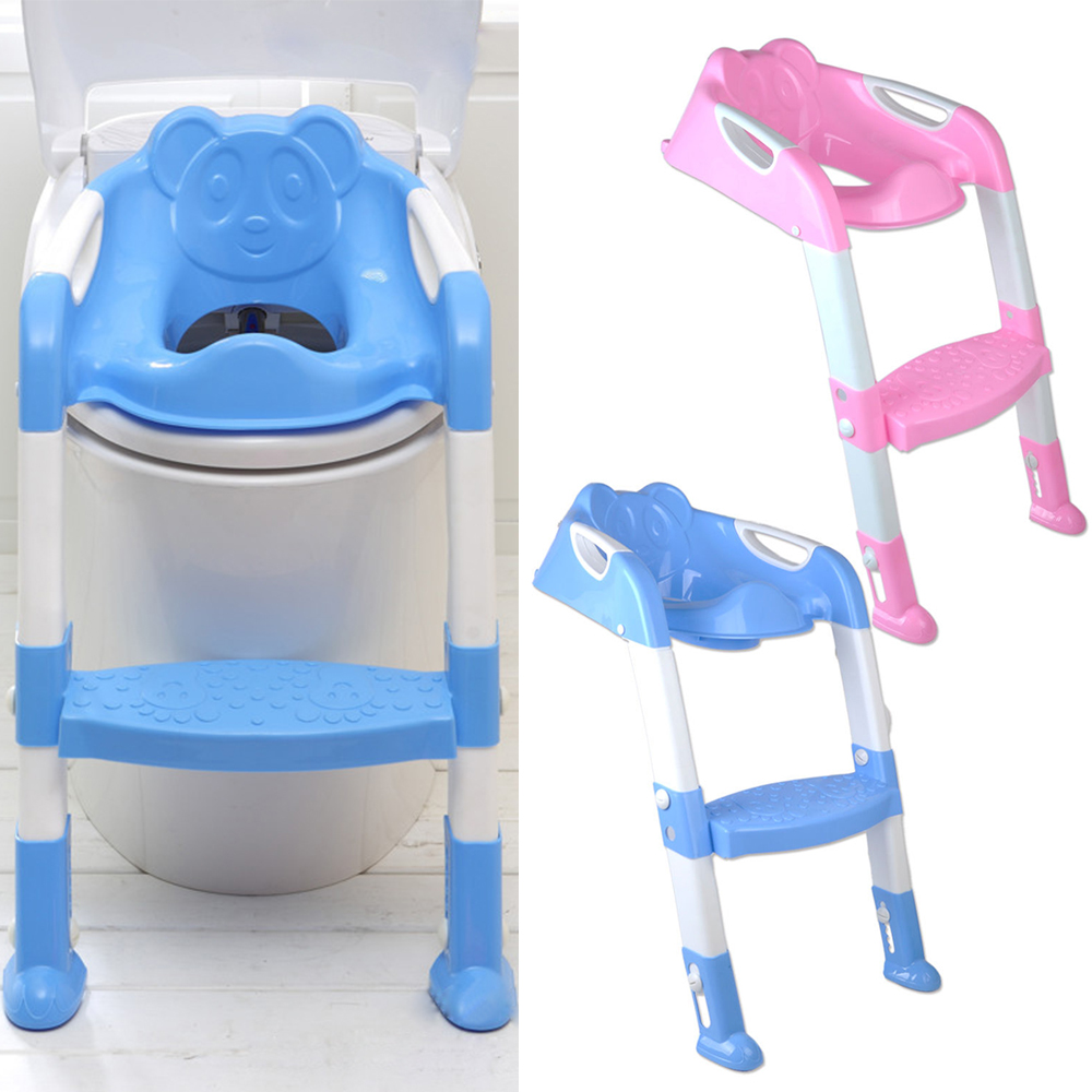 Kid Training Toilet Potty Trainer Seat Chair Toddler Ladder Step Up ...