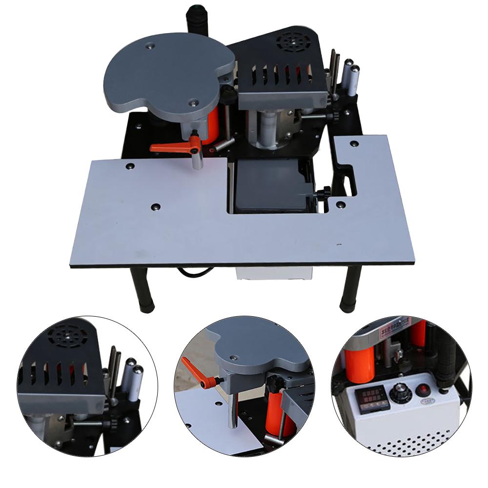 Details about Portable Edge Bander machine double glue wood banding Machine  765W 5m/min