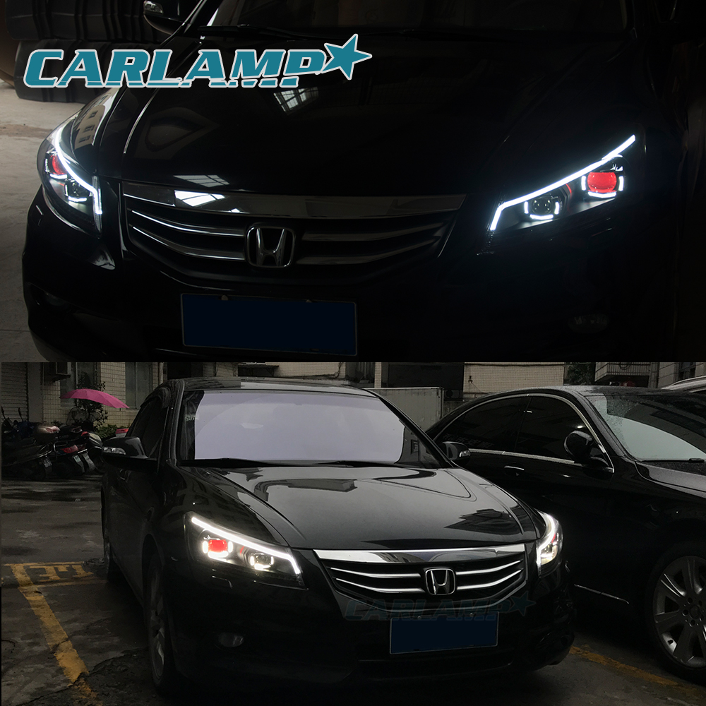 LED Headlights & Tail Lights For Honda Accord 2008-2012 8th Gen Projector  DRL