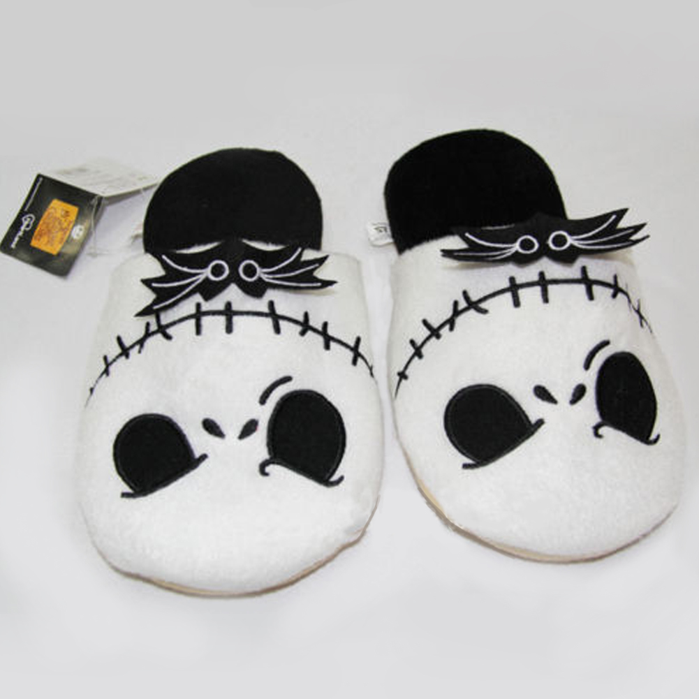 The Nightmare Before Christmas Jack Cotton Slippers Soft Cartoon ...